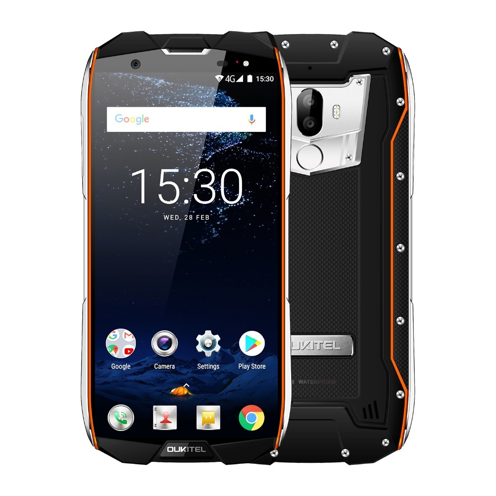 Original OUKITEL WP5000 5.7 IP68 Waterproof Smartphone Helio P25 Octa Core Android 7.1 6GB+64GB 5200mAh Battery 16MP 4G Phone