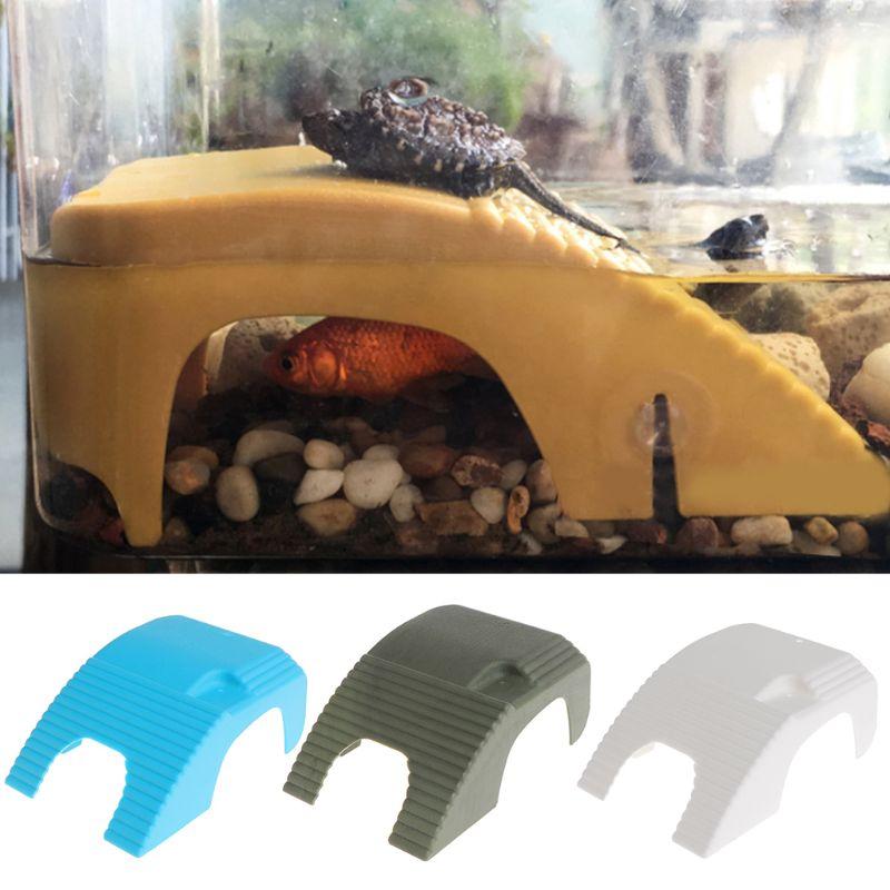 1pc Reptile Platform Turtle Basking Aquarium Amphibian Aquatic Climb Tank Staircase in Terrariums from Home Garden