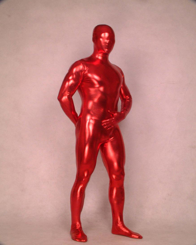 Wet look Red Full Body Spandex lycra Latex Rubber Zentai Bodysuit Fancy  Dress B002 Customsize 628bb713d