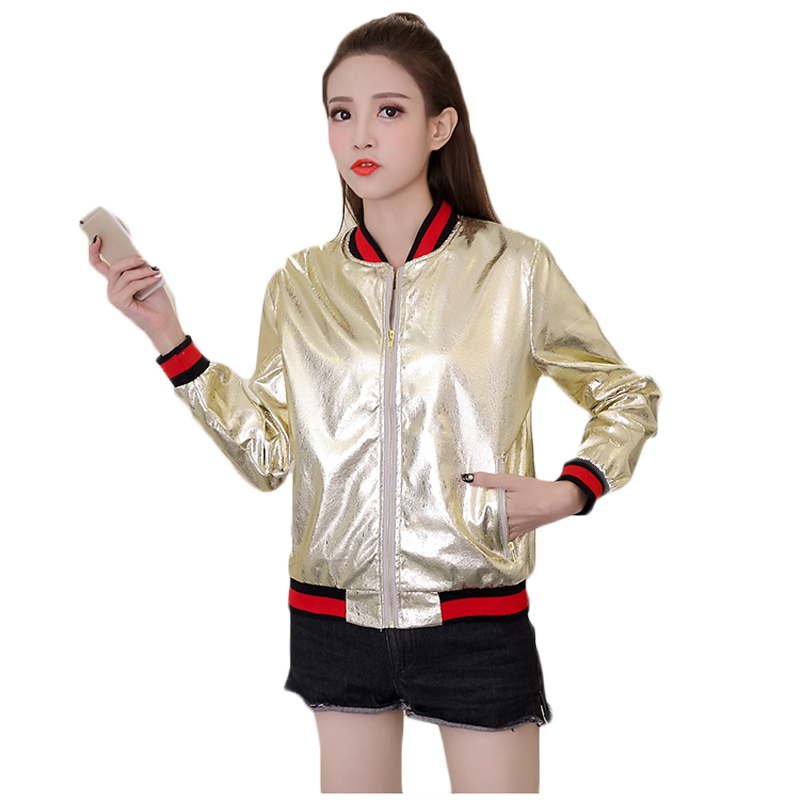 PU Silver   Jackets   Oversize Women Harajuku   Basic     Jackets   And Coats Casual Cute Ladies Kawaii Winter Outwear Preppy Style