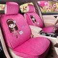 Pink beauty girl felpa corta universal fit car seat covers para bmw benz para nissan para buick para K3 asiento en el coche