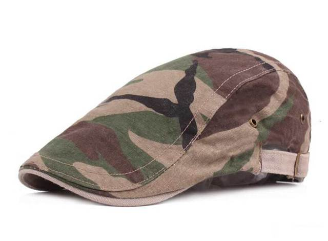 ae15165dd74 Adult Cotton Berets Caps For Men Women Chapeau Casual Peaked Cap Camouflage  Beret Hat Retro Army