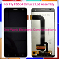 Black Tested For Fly FS504 Cirrus 2 LCD Screen Display With Touch Screen Digitizer Complete Assembly Replacement Tracking Code