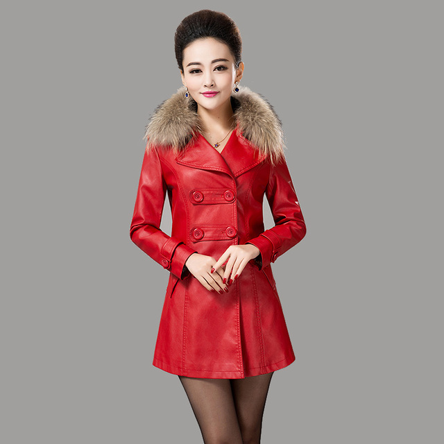 Envío gratis mujeres chaqueta de cuero 2015 mujer ropa de