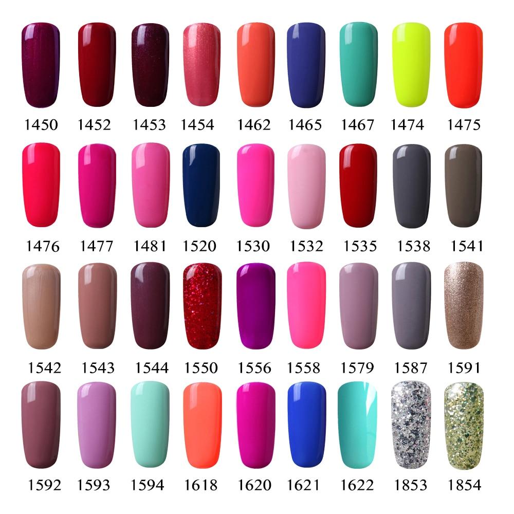 Vishine 7ml Soak Off UV Gel Nail Polish Cute Color Vernis Gel Semi ...
