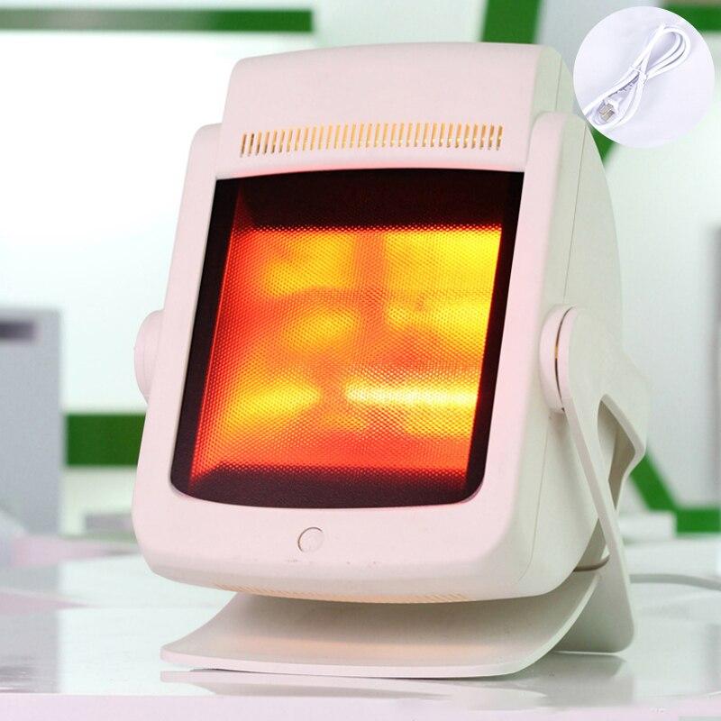 200 w infrarouge lointain thérapie chaleur lampe soulagement de la douleur physiothérapie chauffage lumière Massage santé infrarouge soins socle de bureau 220 V