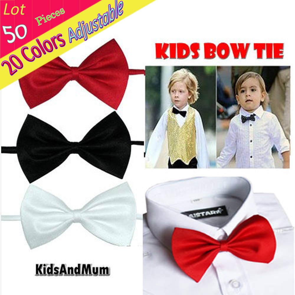 2019 New Style Wholesale (lot 50 Piece) Students Children Bow Tie Solid For Clothing Accessories Tuxedo Party Banquet Birthday Holiday Neckwear