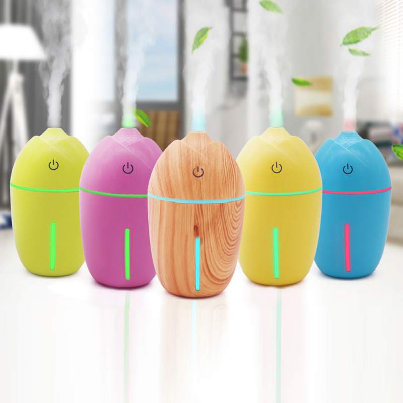 200 ML 3 In 1 Mini USB Air Humidifier Small Fan LED Night Light Aromatherapy Machine Spray Humidifier Gift For Home Office