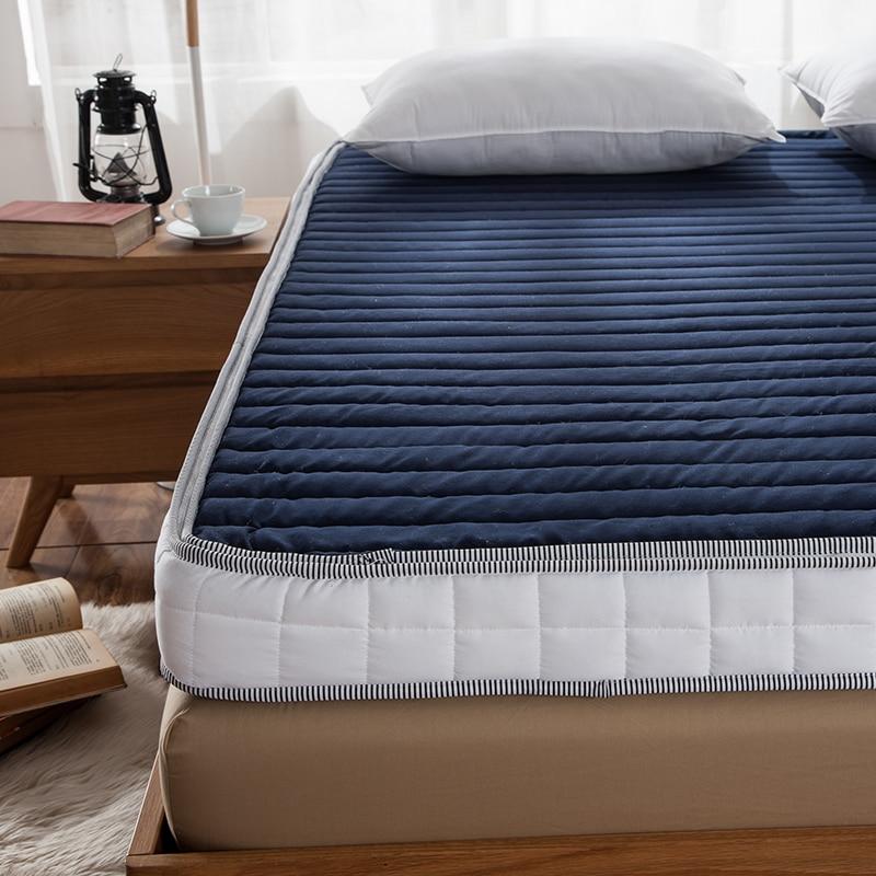 10cm thick high rebound high density sponge mattress memory cotton luxury hotel tatami memory foam mattress bluein mattresses from furniture on