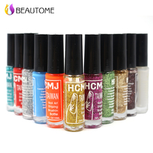 Gran calidad de uñas sello polaco 1 Botellas/LOT Nail Polish & sello nail polish art pen 20 colores Opcionales 10 ml nail art sello.!
