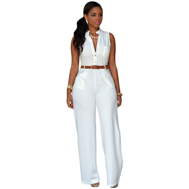 Women's Stylish and Colorful Sleeveless Jumpsuit