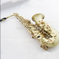 France Henri Selmer Alto Saxophone Reference 54 Green Ancient Drawing