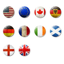 United States FlagGlass Dome Magnetic Refrigerator Stickers Western Asia Jordan Oman Turkey Armenia Fridge Magnet Kitchen Decor(China)