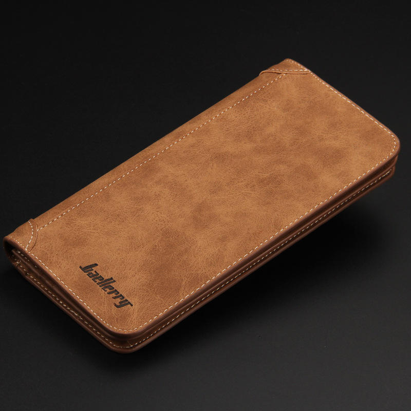 Hot sale PU Leather Long Wallets Men Fashion Brand High Capacity Vintage Casual Wallets Purses Card Holder Clutch Bags Gentleman 2016 famous brand new men business brown black clutch wallets bags male real leather high capacity long wallet purses handy bags