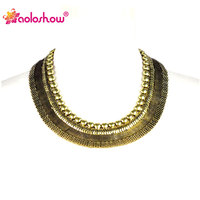 Archaize Wide Iron Meash Chain Bib Necklace Fashion Chunky Choker Necklace NL 1881
