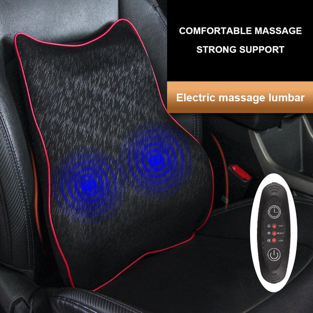 New Car Massage Lumbar Cushion Car Electric Massage Cushion Lumbar Massage Car Seat Back Cushion Waist