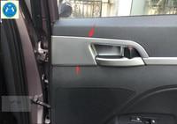 Lapetus Car Styling Inner Door Handle Bowl Frame Cover Trim 4 Pcs / Set Fit For Hyundai Elantra Sedan 2016 2017 ABS