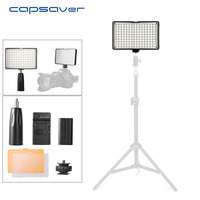 capsaver TL 160S LED Video Light Photographic Lighting Hand held Photo Lamp led Light Panel 160 LEDs CRI85 11W LED Camera Light