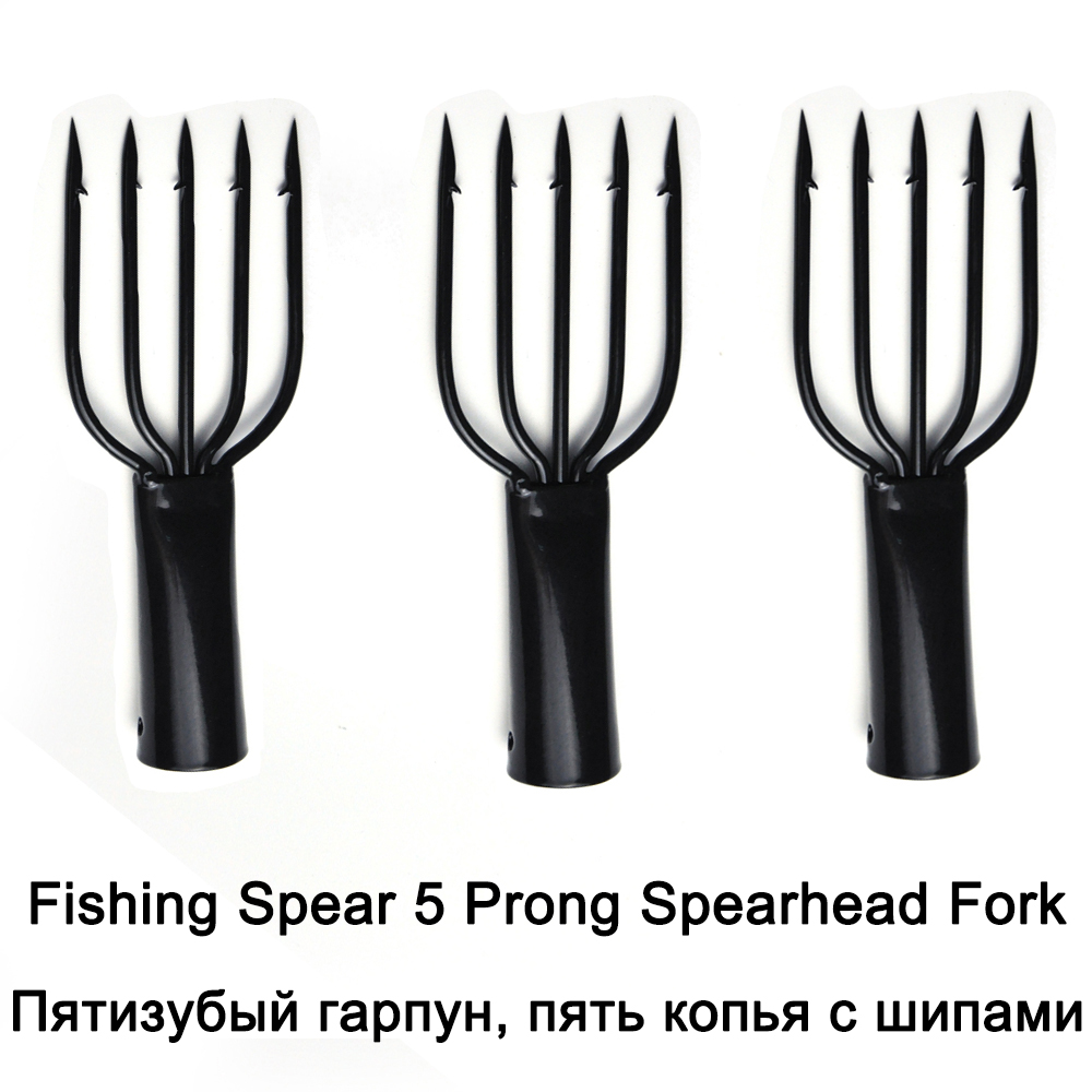 Topline Tackle Five Tooth Carbon Steel Spear Fishing Diving Spear Fishing Gun Harpoon For Fish Fishing Tools