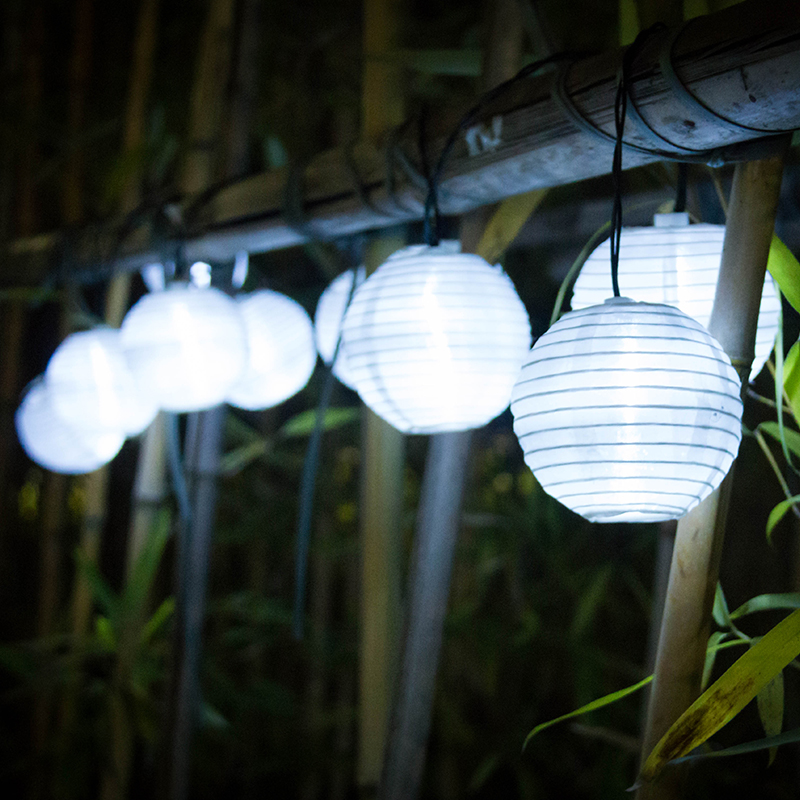 Solar Lamp String Lights Lantern Ball 10/20 LED Solar Garland Utomhus - Utomhusbelysning - Foto 3