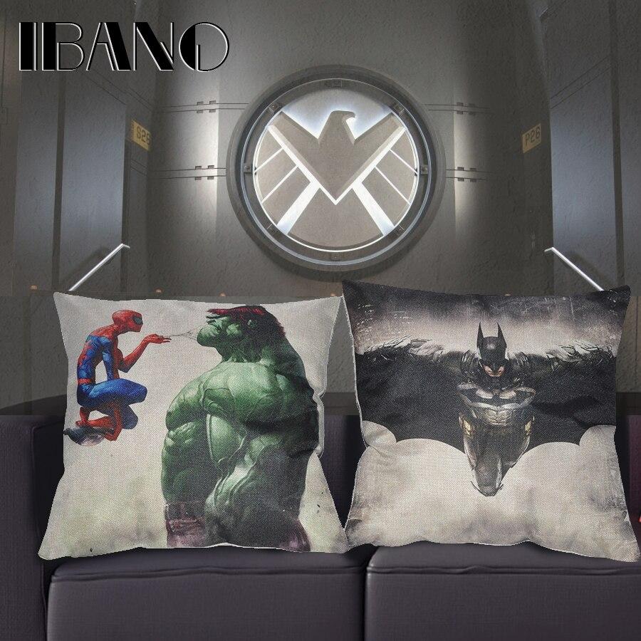 45*45cm Superhero Cushion Cover Soft Breathable Velvet Sofa Car Decor Throw Pillow Case Decorative Living Home Bedding Room