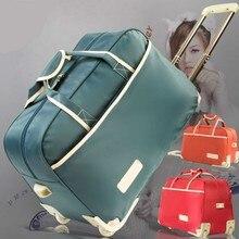 Модный женский чемодан на колесиках, брендовый Повседневный уплотненный чемодан на колесиках, дорожная сумка на колесиках, чемодан для багажа