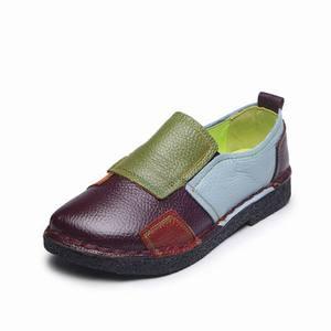 Image 2 - Женские лоферы из натуральной кожи GKTINOO, Модные Разноцветные Повседневные туфли ручной работы, мягкая удобная обувь на плоской подошве