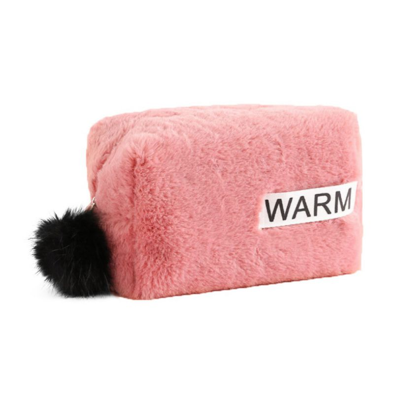 Furry Travel Women Case Cosmetic Bags Fashion Multifunctional Makeup Organizer Cute Large Capacity Pocket Small Square Bag