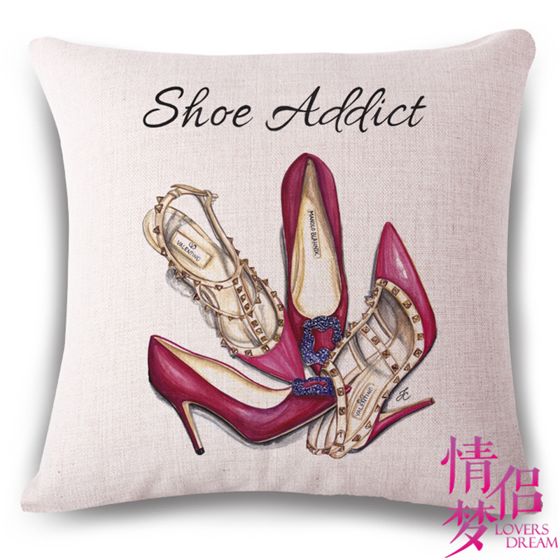 Fashion High Quality Channel Skirt And Perfume Bottles Home Decor Sofa Seat Decorative Cushion Cover Pillow