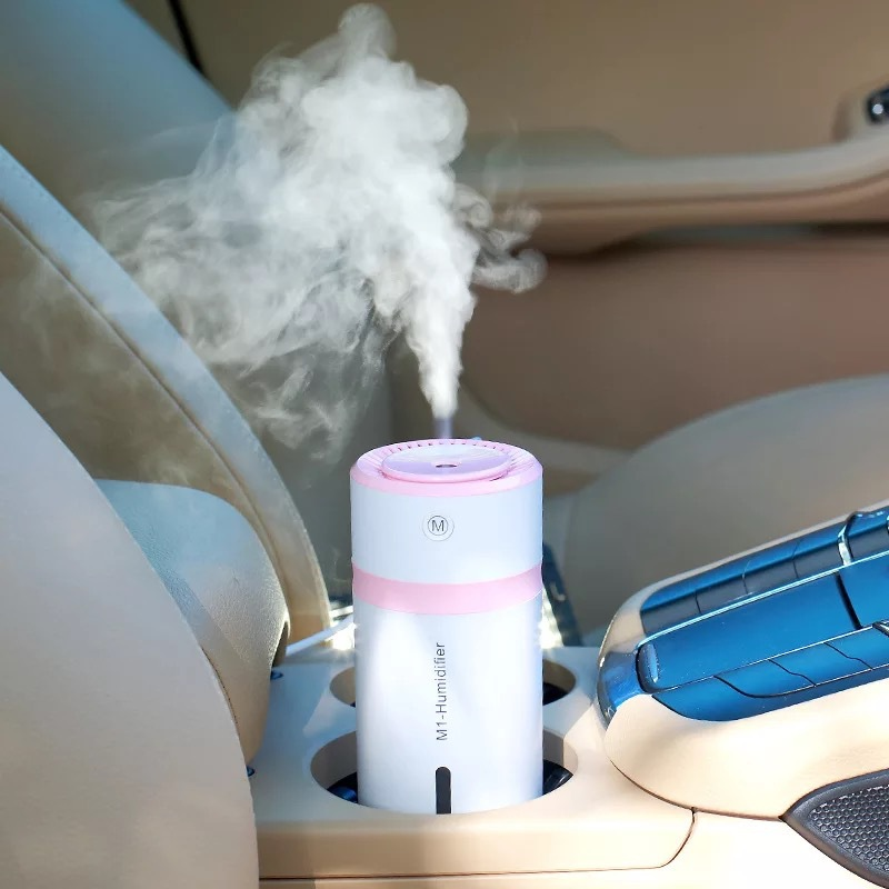 Cup Bottle Mini Car Portable Humidifiers 230mL 4-8 hours Cool Mist Ultrasonic 7-color nigh light For Office Home Bedroom Table