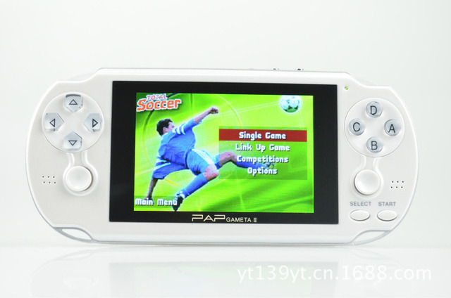 "64Bit Dual Controllers PAP Gameta II Video Game Console with 2000+ Games, 4.1"" 16:9 TFT screen, TV out, MP3, MP4,."