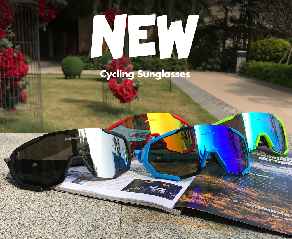 Photochromic Cycling Sunglasses 4 Lens Mirrored Goggles UV400 Men Women