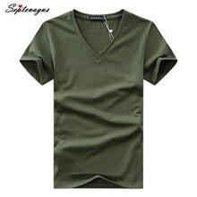 Лето,, Мужская футболка с принтом, v-образный вырез, хлопок, короткий рукав, топы, качественные, повседневные, мужские, облегающие, классические, брендовые футболки