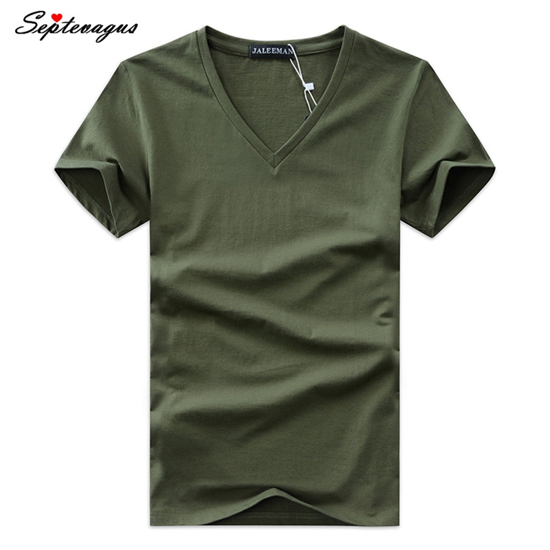 2019 Summer Hot Selling Men Printing V Neck T-shirt Cotton Short Sleeve Tops Quality Casual Men Slim Fit Classic Brand T Shirts