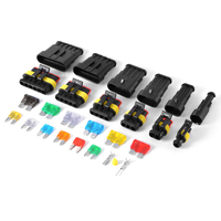 Dustproof Car Electrical Connector Terminals 1 2 3 4 5 6 Pin Way Mini Automotive Fuses