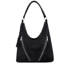 Woman Handbags Faux Suede Leather Bag Female Hobo Bag High Quality Casual Tote Large Capacity Shoulder Crossbody Bags Ladies Sac vintage women s hobo handbags shoulder tote bag faux leather work office sling bag casual fossil purse