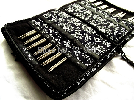 Printing ChiaoGoo Interchangeable Needle bag Storage Needle case for Knitting and Makeup Brush 25 3cm 15