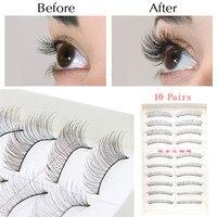 100Pairs Natural Fashion Eyelashes Eye Makeup Handmade Long False Lashes Sparse