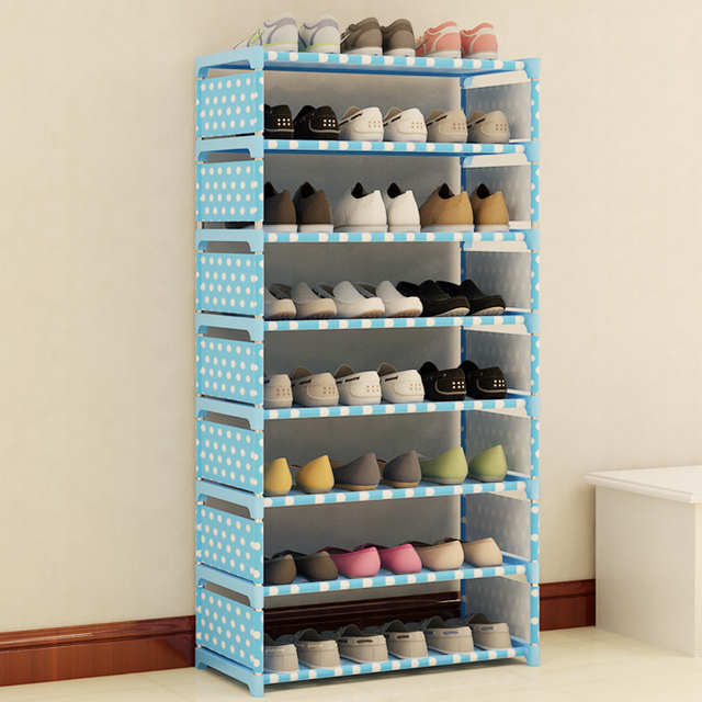 Multi Layer Shoe Rack Nonwovens Steel Pipe Easy to install home Shoe cabinet Shelf Storage Organizer Stand Holder Space Saving 3