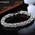 FUNIQUE Punk Men Bracelet Jewelry Silver Tone Stainless Steel Gothic Style Figaro Chain Bangles Bracelets For Women Gifts 22cm