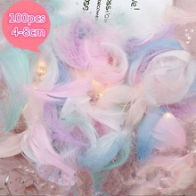 Натуральный Plumes1-2 дюймов 4-8 см Bloodfang гусиные перья для украшение ручной работы изготовление свадебной вечеринки декор аксессуары 100 шт
