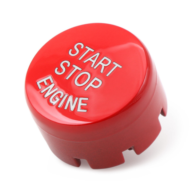 Red Color Car Engine Start Stop Button Replace Upgrade Styling For BMW 3 Series