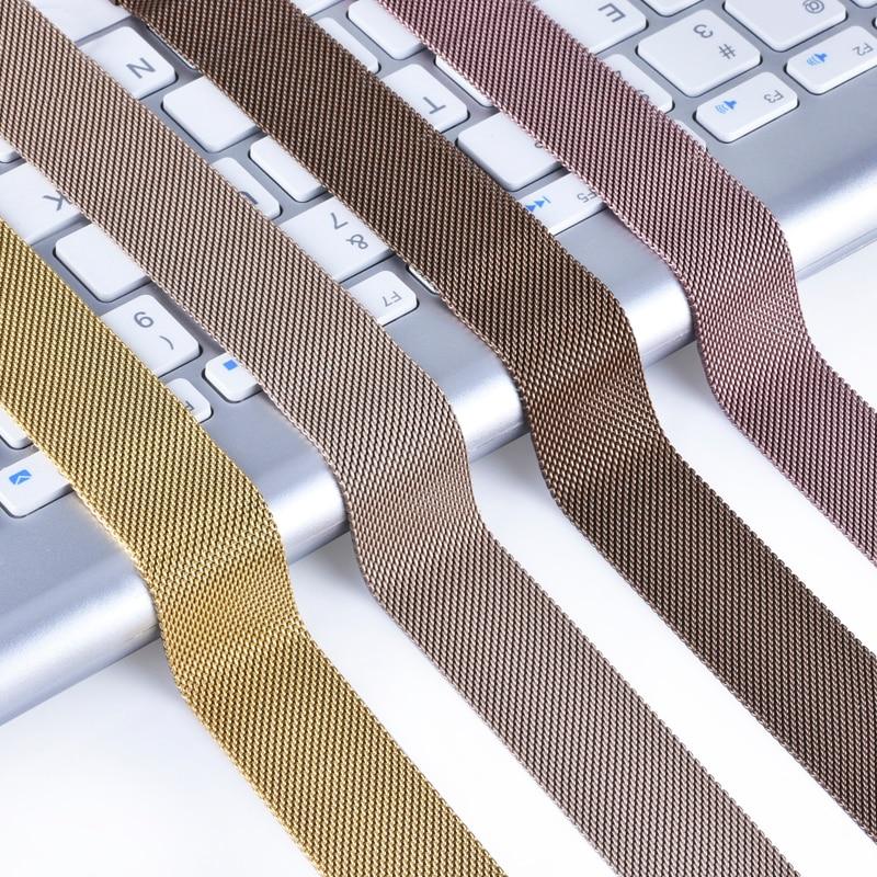 HTB1rL92SmzqK1RjSZFpq6ykSXXaN - Milanese Loop Bracelet Stainless Steel band For Apple Watch series Bracelet strap