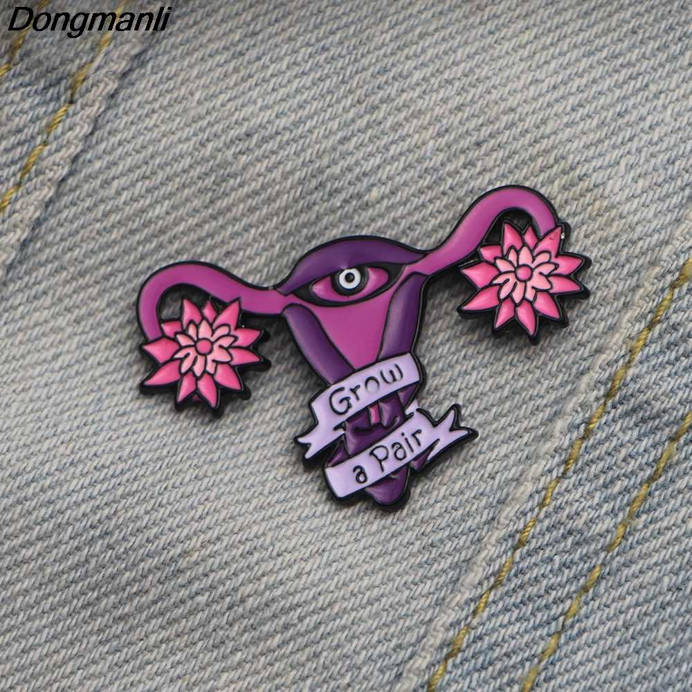 L2343 Utero Femminista Dello Smalto Spille Distintivo Risvolto Spilli e Spilla