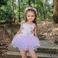 Niños de la Impresión Floral Vestidos para Las Muchachas Hermosas Vestido de la Princesa 2016 de La Muchacha Del Verano Niños del Vestido de Partido Vestido de Novia Ropa de Las Muchachas