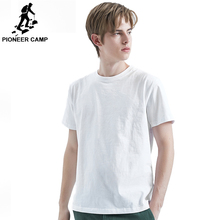 Pioneer Camp 2019 Summer T-Shirt Men 100% Cotton Solid Color Pure color T-shirt High Quality Tops Male ADT901197