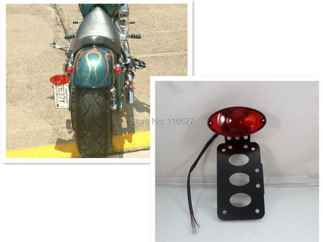 Luz de cola de freno Marcos de matrícula soporte Sportster chopper ...