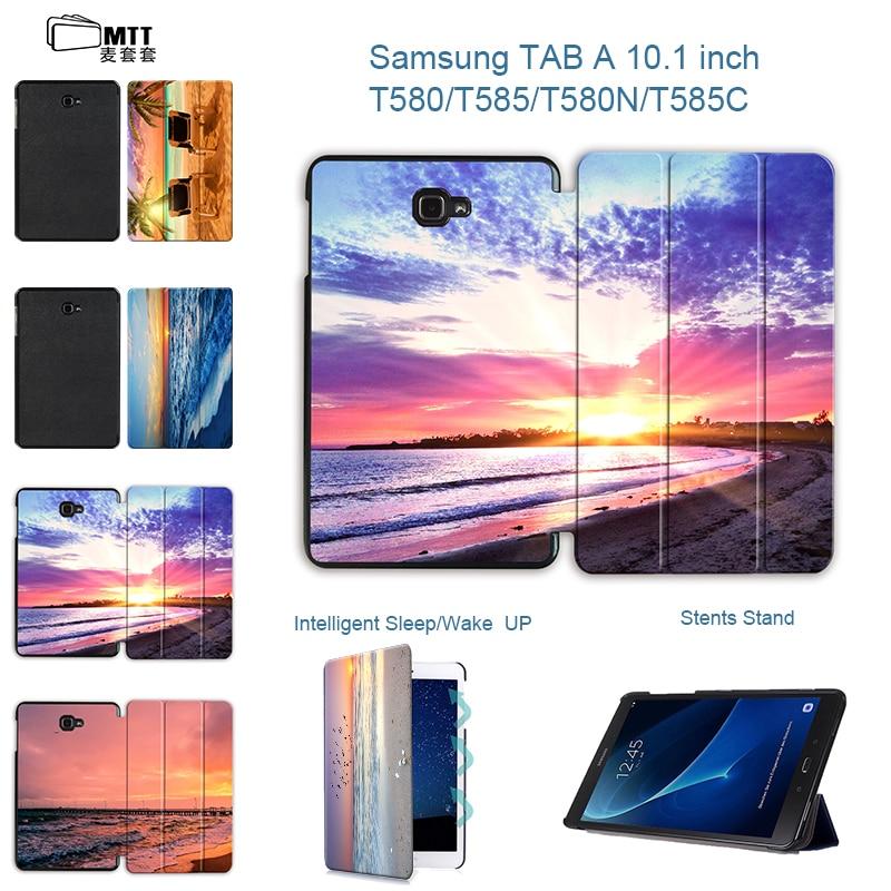 MTT Sunburst Case for samsung galaxy tab A 10.1 T580 T585 SM-T580 SM-T585 Magentic Smart tablet cover for galaxy tab A 10.1 2016 цена и фото