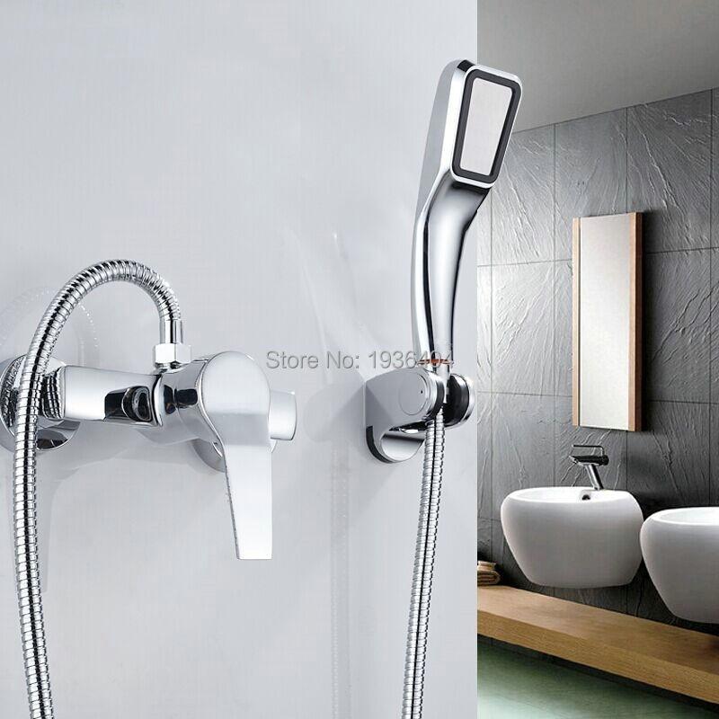 Wholesale Cheap Shower Sets Handshower Chrome Brass Bathroom Shower Faucet Set Sf1002 China Mainland