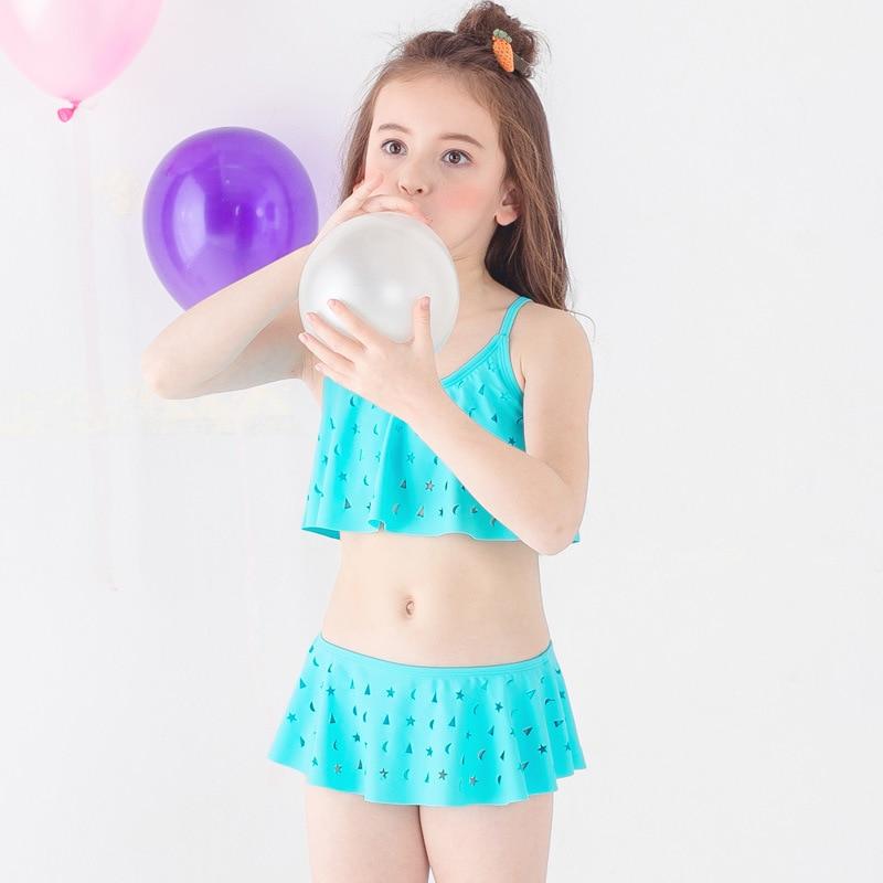 Payasen Swimsuit Big Girls Youth Two Piece Tankini Sleeveless Swimwear 5-9 Years